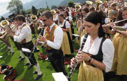 Musikanten der Trachtenmusikkapelle Uttendorf