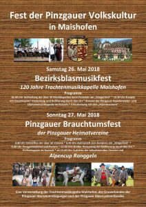 Plakat Fest der Pinzgauer Volkskultur