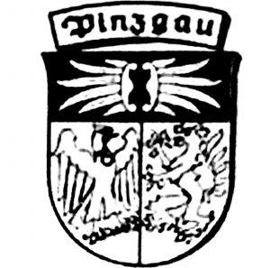 Pinzgau Wappen schwarz/weiß
